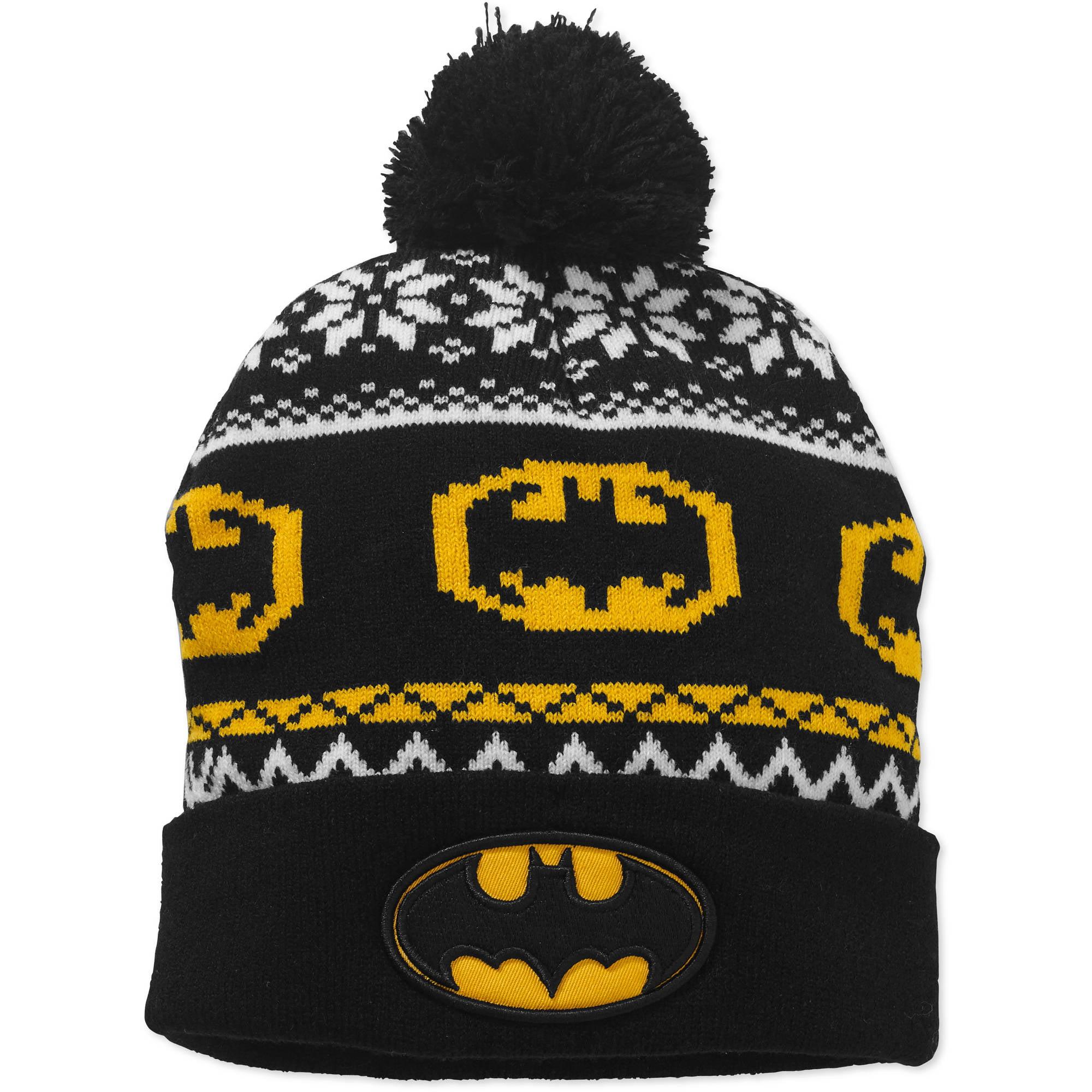 Women's Batman Cuff Pom Knit Hat