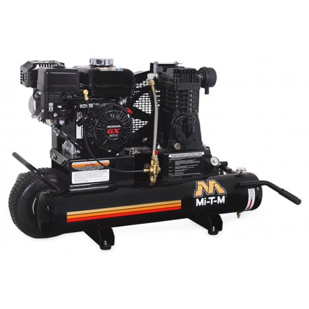Mi-T-M AM1-PH65-08M Portable Air Compressor- 8-Gallon, Single Stage, with gasoline 196cc Honda OHV engine