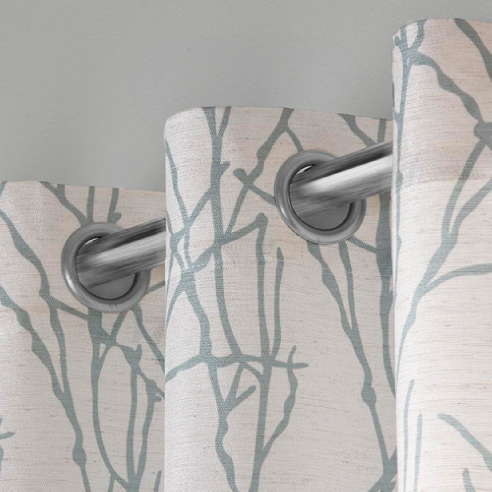 Exclusive Home Curtains 2 Pack Branches Linen Blend Grommet Top Curtain Panels by Exclusive Home