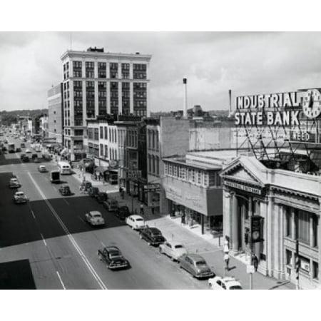 USA Michigan Kalamazoo Traffic on road in city Stretched Canvas -  (18 x - Party City Kalamazoo