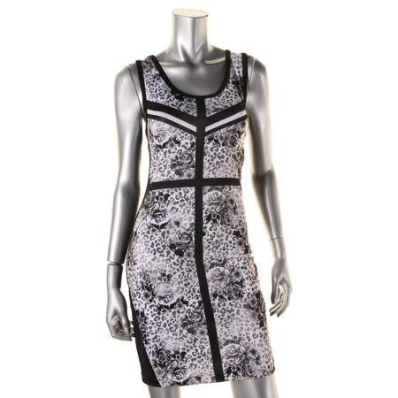Rampage Womens Juniors Printed Bodycon Tank Dress