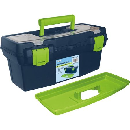 "Pro Art Storage Box W/Organizer Top-15.9""X8""X7"" Blue & Green"
