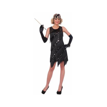 CO-MIDNIGHT DAZZLE-XS/S (Flapper Girl Costumes Adults)