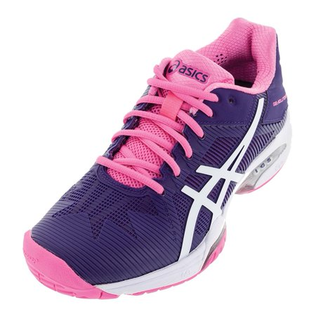 Women`s Gel Solution Speed 3 Tennis Shoes Parachute Purple and White