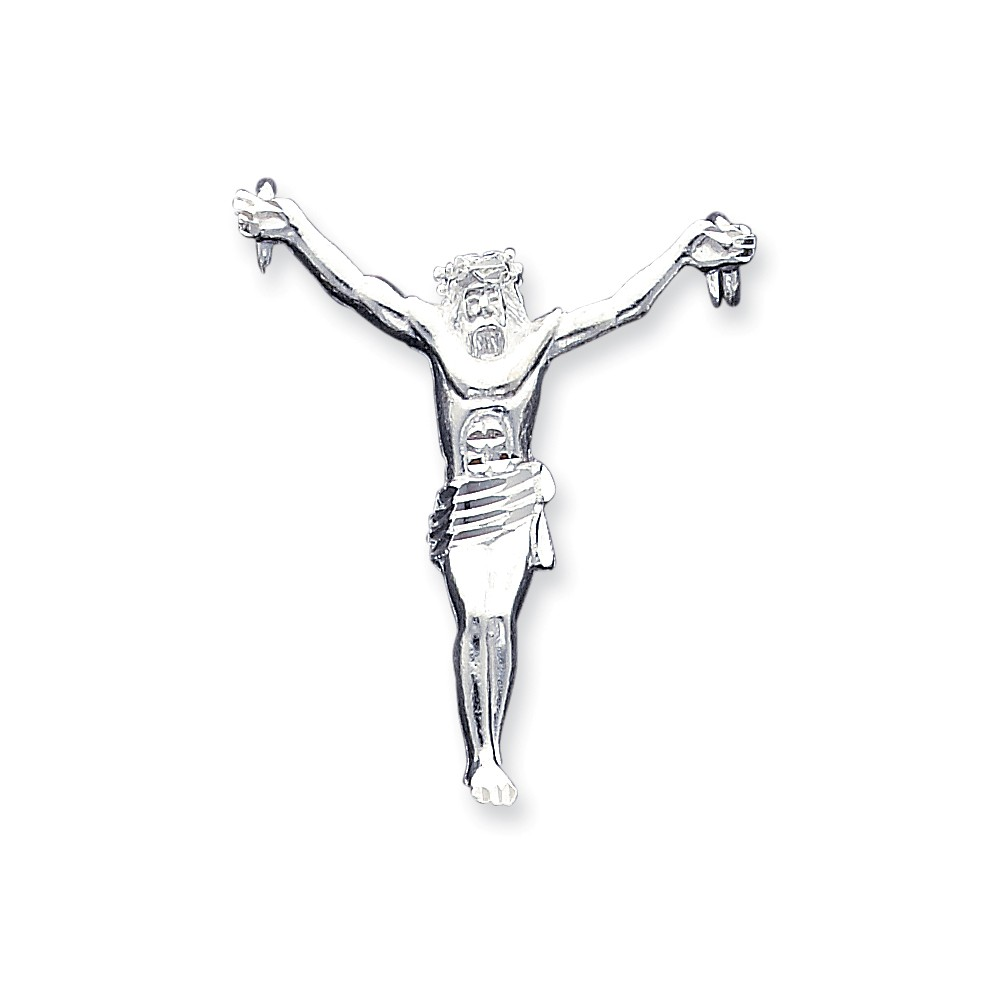 Sterling Silver Corpus (Crucified Christ) Pendant