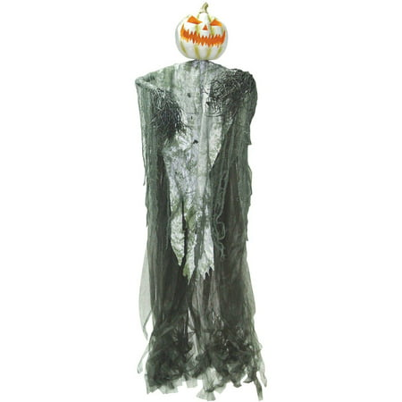 Hanging Light Up Pumpkin Man Halloween Decoration - Boarded Up Window Halloween Decoration