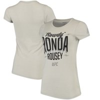 Ronda Rousey UFC 207 Reebok Stacked T-Shirt - Ash