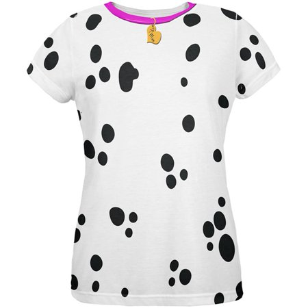 Valentine's Day Dog Dalmatian Costume Pink Collar Be Mine All Over Womens T