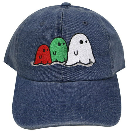 City Hunter C104 Halloween Ghost Family Cotton Baseball Caps - Denim