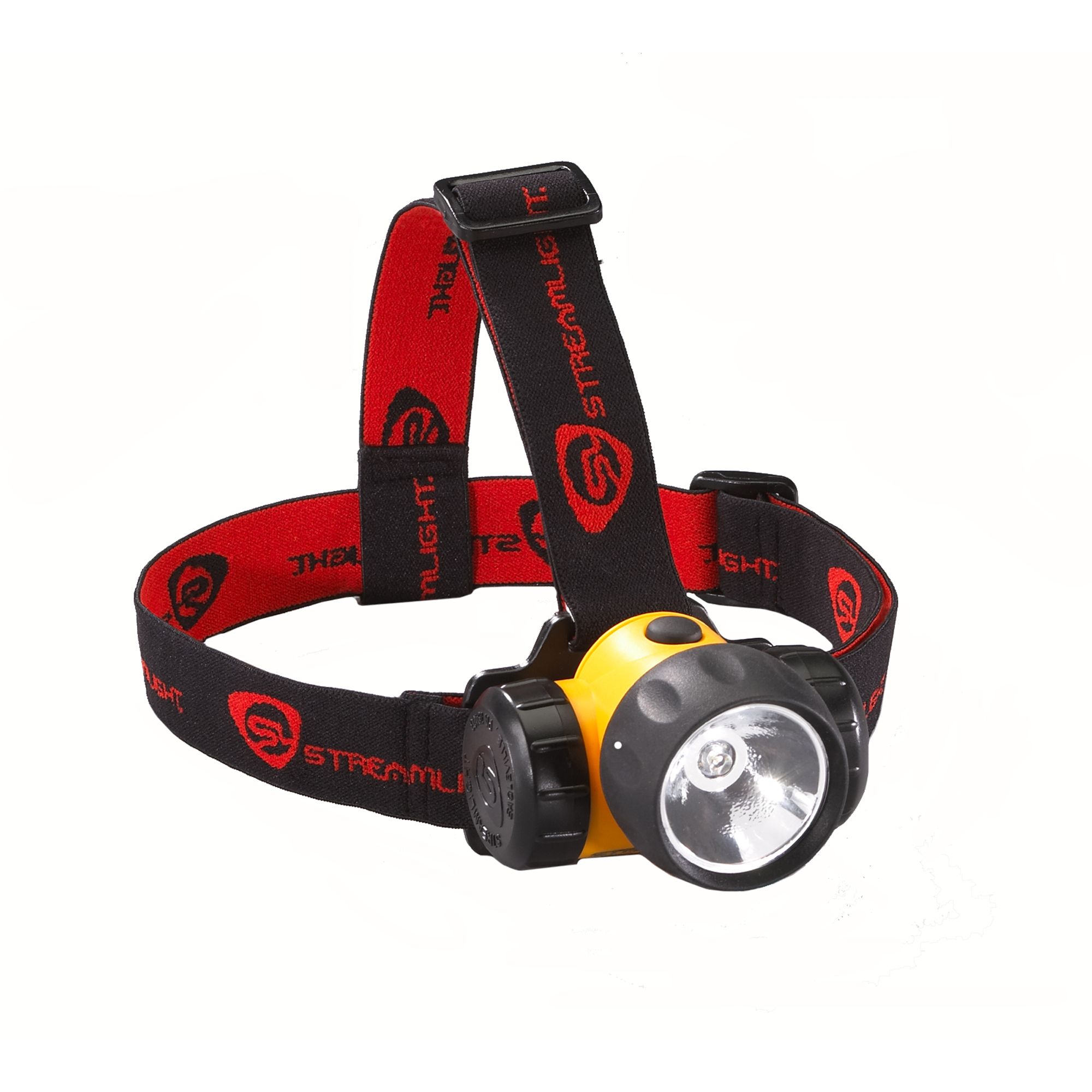 Streamlight 3AA HAZ-LO® w/Batteries Rubber & Elastic Straps, Yellow