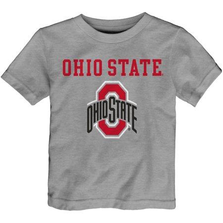 Infant Heathered Gray Ohio State Buckeyes Basic Logo T-Shirt