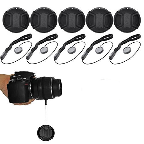eCostConnection 62mm Pro Series 5 Snap On Lens Caps and 5 Lens Cap Keepers For Canon, Nikon, Pentax, Fujifilm, Sony, Panasonic, Olympus & More Models - image 4 de 4