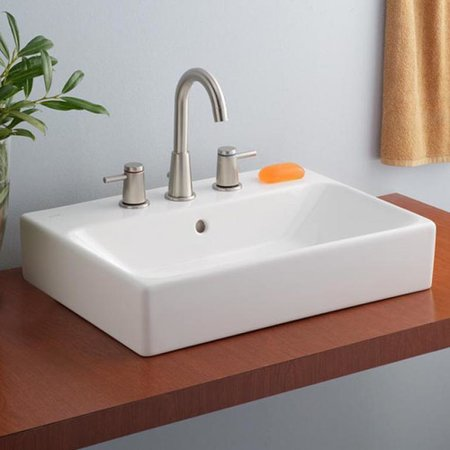 Cheviot Products Nuo Rectangular Vessel Bathroom Sink With Overflow