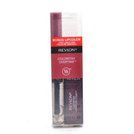 Revlon ColorStay Overtime Moisture Stain 005 Parisian Passion .27 fl oz with Bonus Lipcolor 005 Infinite Raspberry .07 fl oz