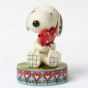 Jim Shore Peanuts I Love You Snoopy Holding Heart Figurine 4049396 New Valentine by Enesco