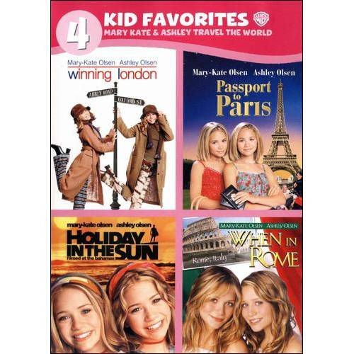 4 Kid Favorites: Mary-Kate & Ashley Travel The World - Winning London / Passport To Paris / Holiday In The Sun / When In Rome (Full Frame)