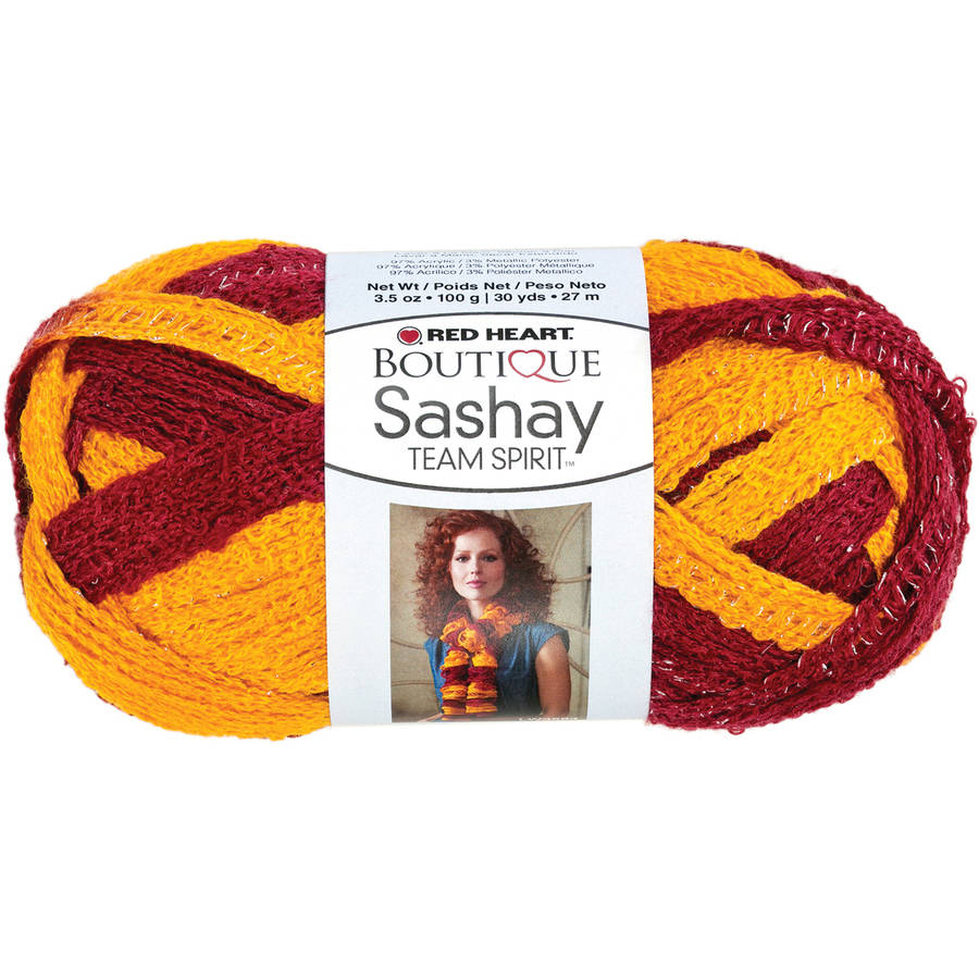 Red Heart Boutique Sashay Team Spirit Yarn, Available in Multiple Colors