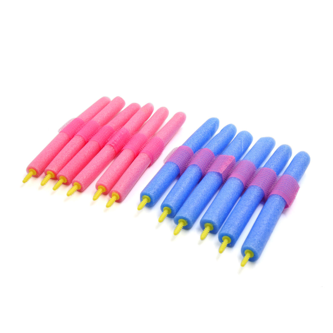 12 Pcs Beauty DIY Curler Makers Soft Foam Bendy Twist Curls Tool Hair Rollers