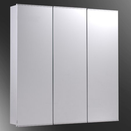 Enjoyable Ketcham 24W X 30H In Tri View Semi Recessed Medicine Cabinet Interior Design Ideas Philsoteloinfo