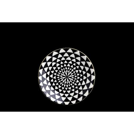 Thyme & Table Dinnerware Black & White Medallion Stoneware, 12 Piece Set