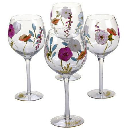 Certified International Rainbow Seeds 17 oz. Wine Glass (Set of 4) by