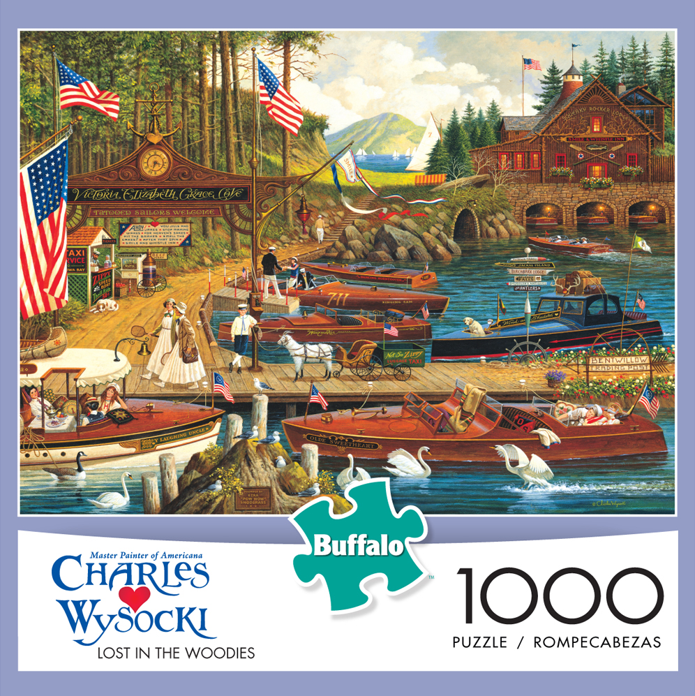 Buffalo Games Charles Wysocki Lost in the Woodies Jigsaw Puzzle, 1,000 Pieces