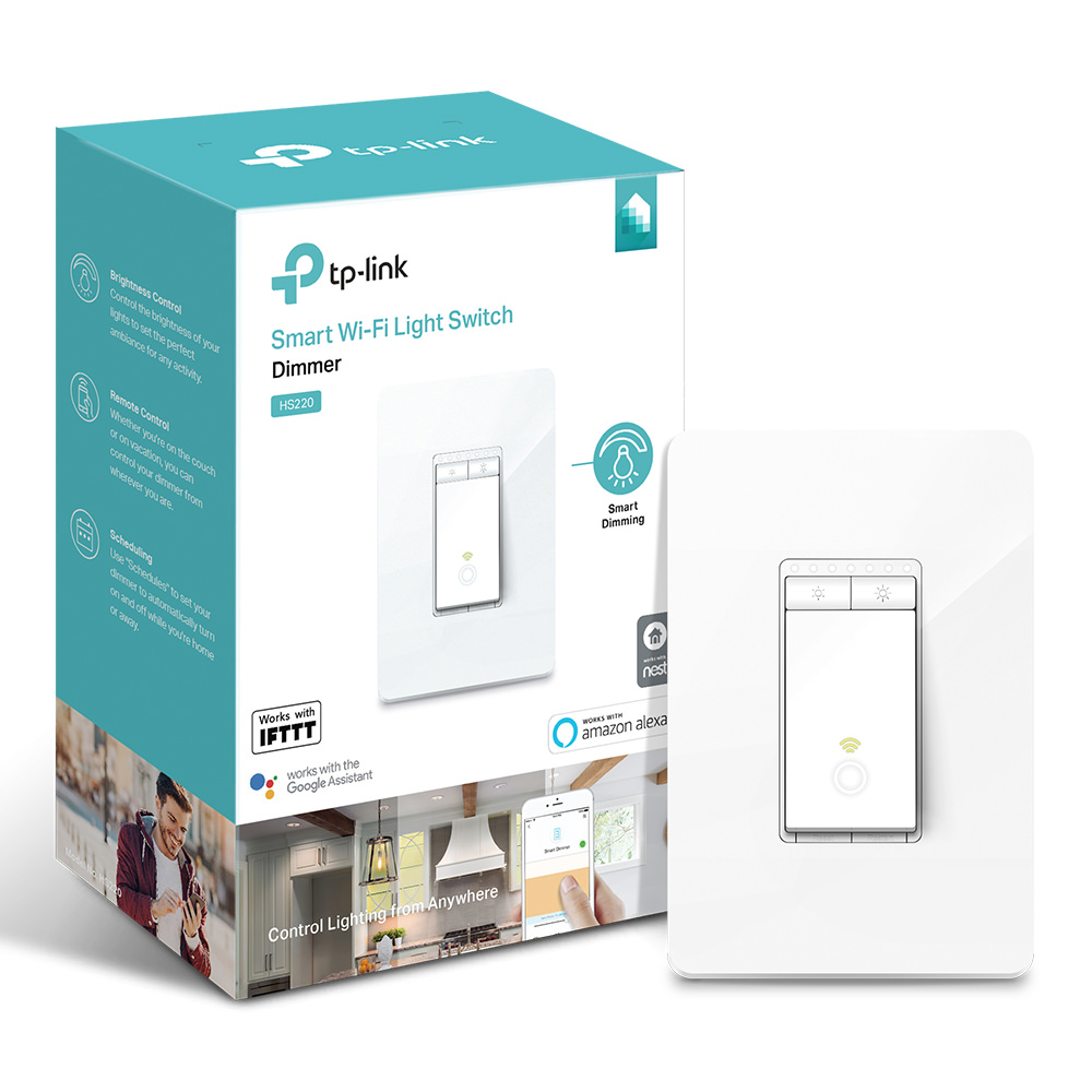 TP-Link HS220 In-Wall Smart Dimmer, No Hub Required
