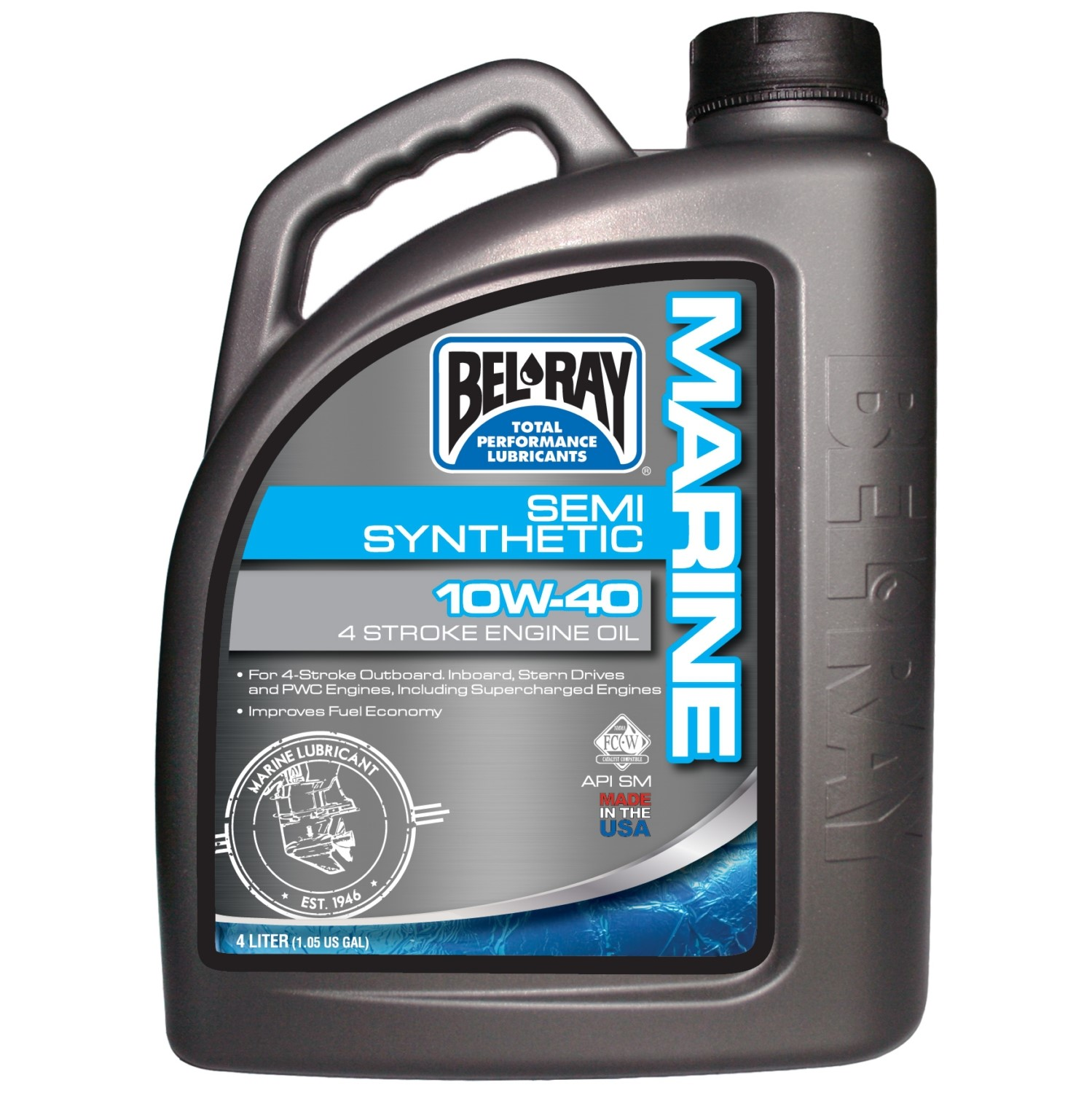 Bel-Ray 4-Stroke Semi-Synthetic Motor Oil 4 L / 1.05 G  4 L / 1.05 G #733310