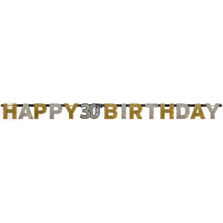 �Sparkling Celebration Prismatic 30th Birthday Banner (1)