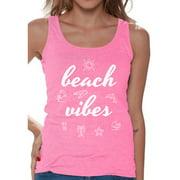 Awkward Styles Beach Vibes Women Tank Top Beach Tank Summer Workout Clothes Beach Party Gifts for Her Women's Hawaiian Sleeveless Shirt Vacation Shirts for Women Cute Gifts for Summer Vacay Tank Top