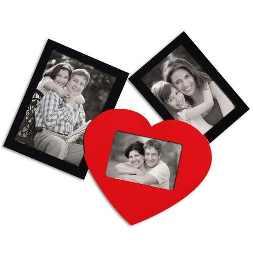 Adeco Trading 3 Opening Decorative Wall Hanging Collage Picture Frame