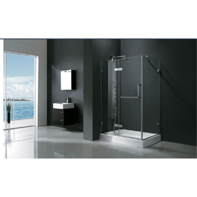 Vigo VG6011CHCL48 32  X 48  Frameless 3/8u0026quot; Clear/Chrome Shower  Enclosure   Walmart.com