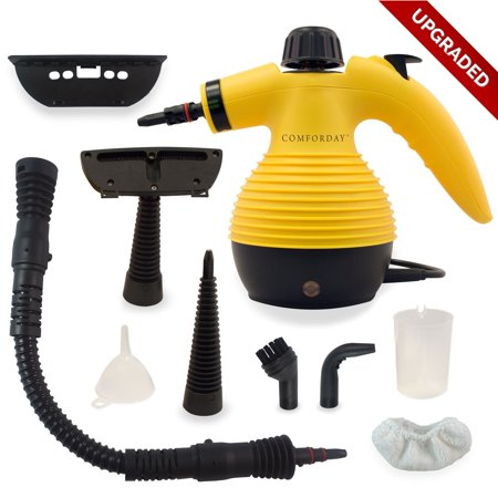 Handheld Pressurized Steam Cleaner with 9-Piece Accessories for Stain Removal, Carpets, Curtains, Car