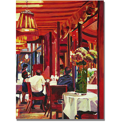 "Trademark Art ""Chez Parisian"" Canvas Wall Art by David Lloyd Glover"