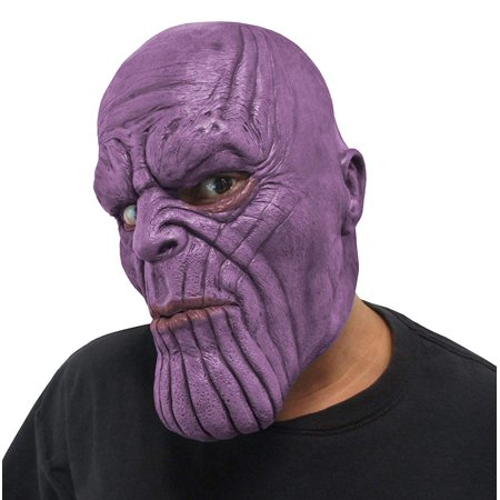 Marvel Avengers Infinity War Thanos Adult 3/4 Vinyl Costume Mask](Black Cat Mask Marvel)