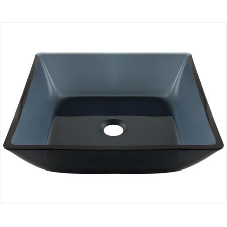 Polaris 630 Black Square Vessel Bathroom Sink - image 1 de 1