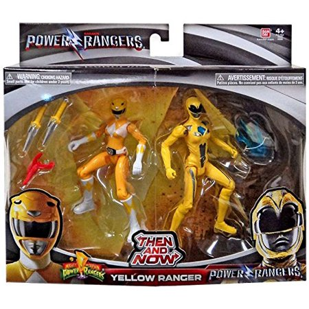 Saban's Movie Then and Now Yellow Ranger Action Figure Set 5 Inches, Includes: 2 Yellow Ranger action figures. By Power Rangers](Power Ranger Helmets For Sale)