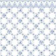 Dollhouse 6 Pack 1/2 Scale Dutch Tile, Blue On White