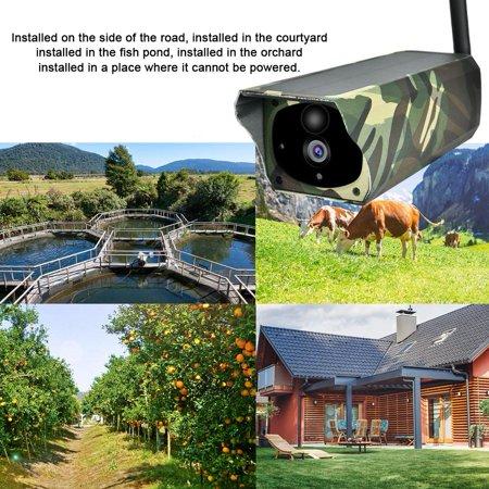 Domqga Solar Camera, Security Camera, 1080P HD Solar Wifi Camera Outdoor Wireless Security Camera Camouflage - image 4 of 11