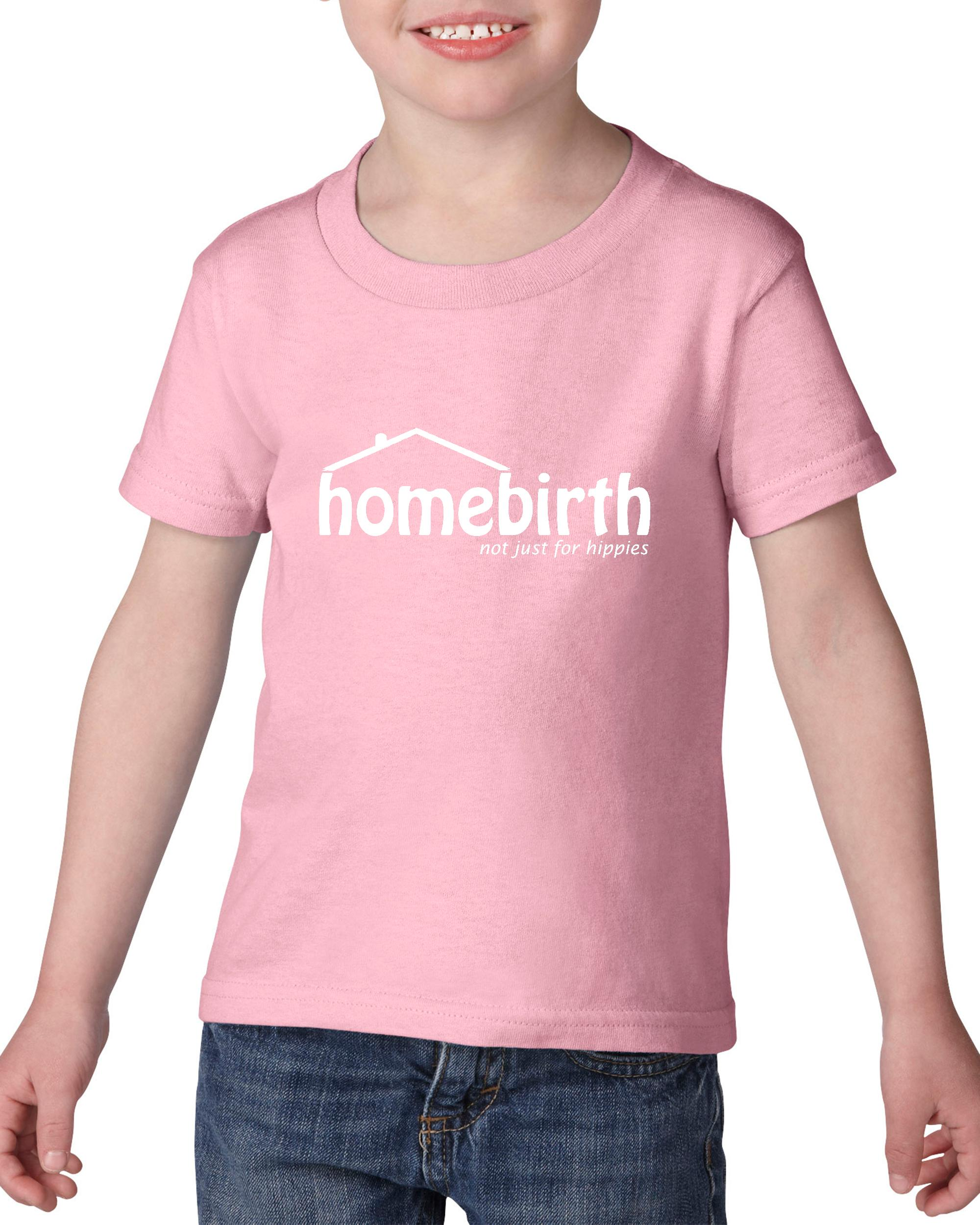 Artix Home Birth Just For Hippies Gift for Mothers Heavy Cotton Toddler Kids T-Shirt Tee Clothing