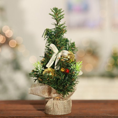 tommyfit mini christmas tree desk festival party ornament gifts 20cm787 - Walmart Small Christmas Tree