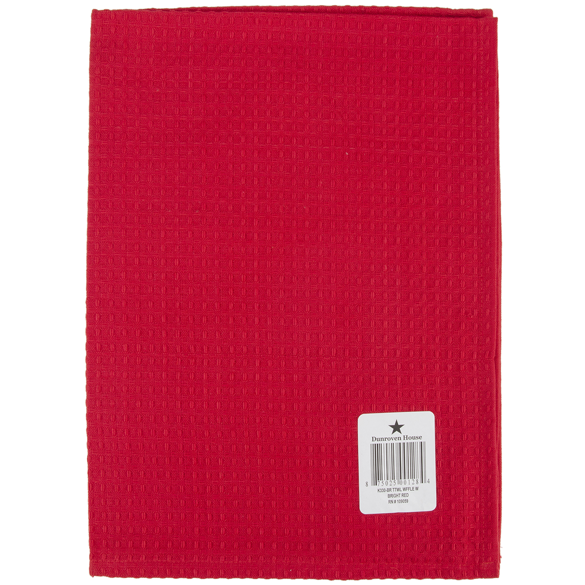 "Waffle Weave Dishtowel 20"" x 28"", Bright Red"