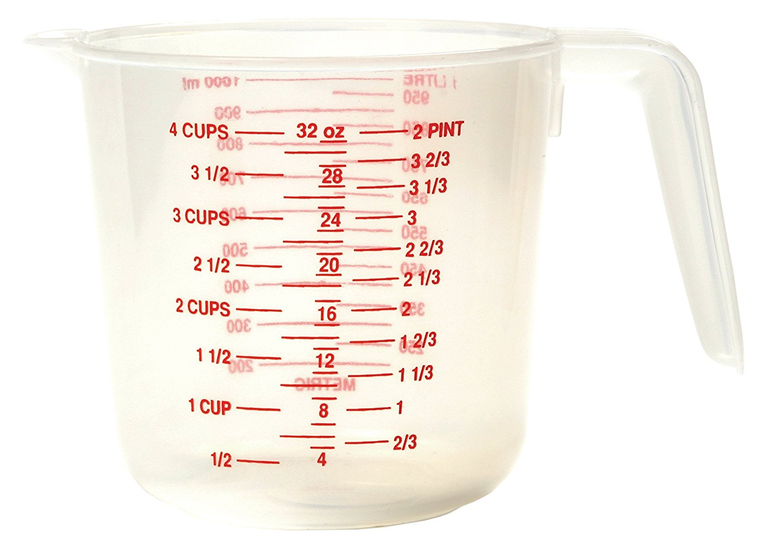 4-Cup Plastic Measuring Cup, USA, Brand Norpro by