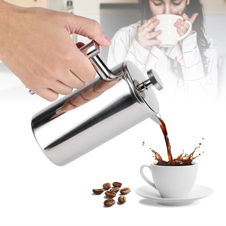 Ejoyous 350ML Double Wall Stainless Steel Coffee Maker French Press Tea Pot with Filter ,French Press, French Press Maker - image 3 of 7