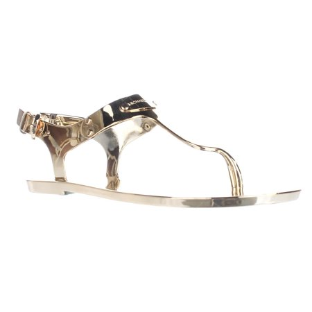 056572d8adde79 Michael Kors - Womens MICHAEL Michael Kors MK Plate Jelly Thong Sandals -  Gold - Walmart.com