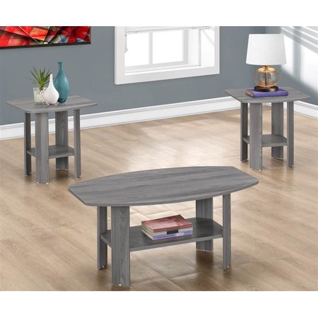 trent home 3 piece coffee table set in gray