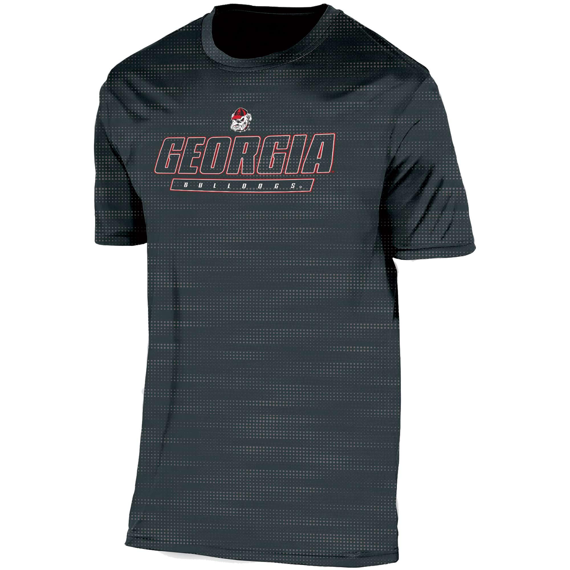 Men's Russell Black Georgia Bulldogs Embossed Synthetic T-Shirt