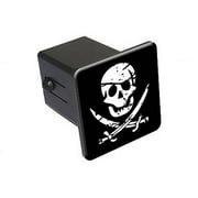 """Pirate Skull Crossed Swords 2"""" Tow Trailer Hitch Cover Plug Insert"""