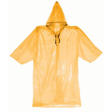 (4 Pack) ASR Outdoor Clear Emergency Poncho Set (3 Colors)