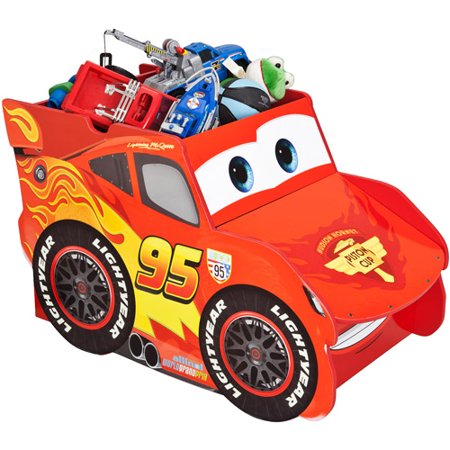 Disney Cars Lightening Mcqueen Extra Large Toy Box